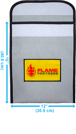 Flame Fortress® fire resistant bag dimensions