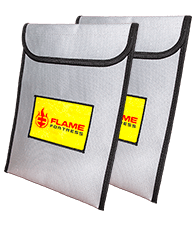 Flame Fortress® fireproof bag Twin Pack